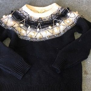 Kate Spade knit sweater with poms